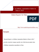 Research Reports on Military Ammunition Market in China to 2023