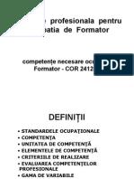 Formare Profesionala Pentru Ocupatia de Formator
