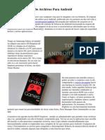 tres Exploradores De Archivos Para Android