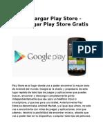 Descargar Play Store - Descargar Play Store Gratis