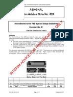 PWA IAN 025 Rev A1 - Amendments to the TSE System Design Guidelines