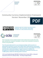 CCIA Community Currency Implementation Framework, 45pp