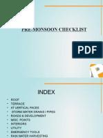 Pre Monsoon-Check List