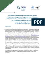 CCIA Legal Overviews - Financial Services Regulators. 10pp