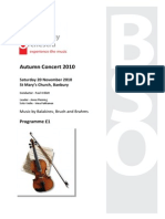Programme for Autumn 2010 Concert DRAFT 2