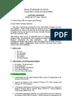 2010-02-22 Council Agenda Session