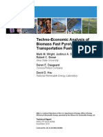 Tecno-Econômic Analysis of Biomass Fast Pyrolysis to Transportations Fuels