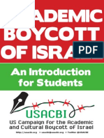 The Academic Boycott of Israel