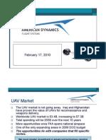 Applied Dynamics Flight Systems Presentation Feb 17, 2010