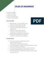 Principle of Insurance
