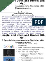 HORNSTEN_Google, And Uber, And Drones (Oh, My) by Jim Hornsten