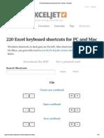 Mac equivalents of Windows Excel Shortcuts