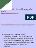 La Producción de La Monografía Final