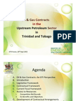 Oil and Gas Contracts in Trinidad and Tobago Heidi Wong