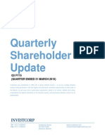 Investcorp Quarterly Shareholder Update Q3 FY15