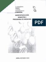 Programa Morfofisiología Semestre I Pograma Medicina UNEFM