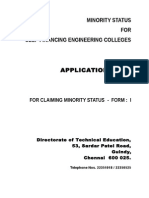 Minority Application Form