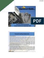 Gammon Gold Sept 2010 Presentation
