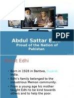 Abdul Sattar Edhi (Proud of Pakistani Nation)