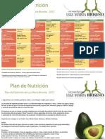 Plan de Nutricion Luz Maria Briseno 2012