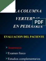 La Columna Vertebral en Pediatria