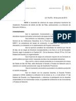 Disp 28-15 Pruebas VD Conservatorio