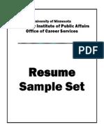 Sample Resumes Set