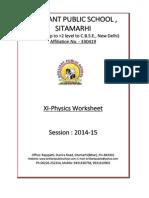 11 Physics Worksheets