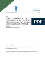 Basic Fundamentals of Phenomenology of Music by Sergiu Celibidac