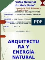 Arquitectura y Energia Capitulo-I