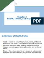Week 2- Ch. 3- Health and Illness