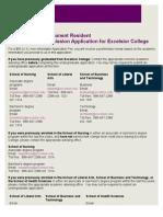 Undergraduate Application for Admission