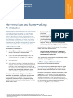 Homeworkers and Homeworking