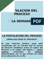 Postulacón Del Proceso La Demanda en el peru