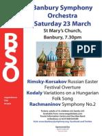 23 March Concert