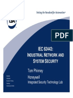 IEC 62433 Industrial Network and System Security