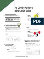 IV Bim - Arit. - MCM - MCD3er. Año - Guía 4 -Mcm-mcd