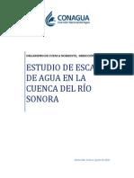 Estudio de la escasez del agua en la cuenca del río Sonora, México
