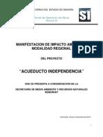 MANIFESTACION DE IMPACTO AMBIENTAL ACUEDUCTO INDEPENDENCIA