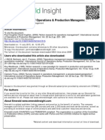 Action Research for Operations Management - International Journal of Operations & Production Management