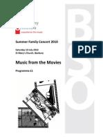 Concert Programme Summer 2010 DRAFT B