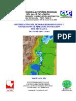 Optimización Del Modelo Hidrodinámico y Generacion de Mapas de Inundacion Del Rio Cauca