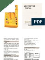 Manual do Multimetro DT830B