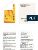 Manual do Multimetro DT830B