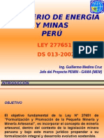 s 010 Presentacion Medina Ley Mineria Artesanal