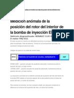 Medición Anómala de La Posición Del Rotor Del Interior de La Bomba de Inyección EPIC