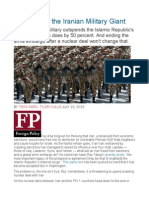 The Myth of the Iranian Military Giant