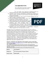 Access Bursary App Form