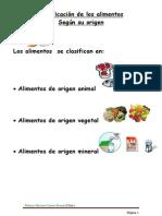 42018525 Clasificacion de Los Alimentos Segun Su Origen