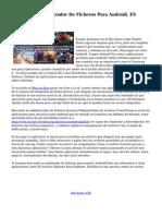 Completo Administrador De Ficheros Para Android, ES Archivo Explorer